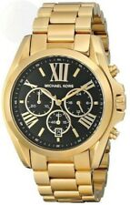 Michael Kors MK5739 Women's Bradshaw Gold tone Plated Stainless Black Dial Watch