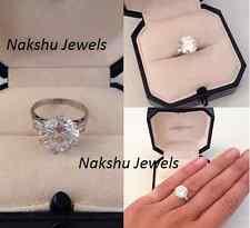 Engagement Ring 14K White Gold 4.00Ct White Round Moissanite Solitaire