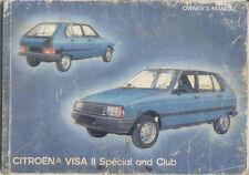 Citroen Visa Ii 652 Club Especial 1981-84 dueños originales MANUAL no 07554 vd-vj