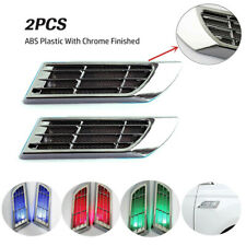 2x Solar Outlet Car Side Air Vent Fender Cover Hole Intake Sticker 3 Color Light