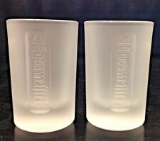 shot glass Lot of 2 Jagermeister Frosted 1 fl oz was not sold to public. Promo!