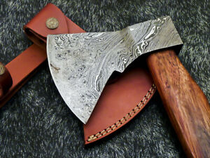 """New Beautiful Handmade Damascus Steel AXE """"UNIQUE AXE"""" Limited Edition WD-9439"""