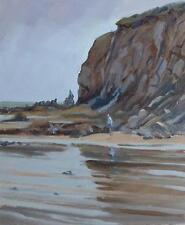 "Original Michael Richardson el Beachcomber ""fósiles Playa Mar Pintura al óleo"