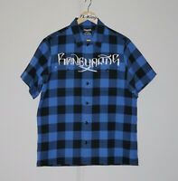 2008 Neighbourhood NBHD Stussy Boneyards Half Sleeve Shirt Made In Japan M USED