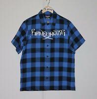 2008 Neighbourhood NBHD Stussy Boneyards Half Sleeve Shirt Made In Japan M USED