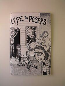 LIFE IS POSERS Vol. 1 (2015) Boston Street Punk Comic zine oi