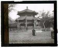 1936 Chinese Yangtze River Castle China OLD GLASS PHOTO MAGIC LANTERN SLIDE 571B