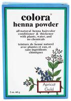 Colora Henna All Natural Organic Powder Hair Color 2oz  APRICOT GOLD