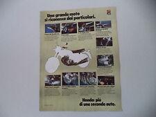 advertising Pubblicità 1974 MOTO HONDA CB FOUR 350/750