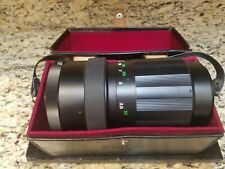 Early Soligor Mirror 500mm F/8 Telephoto Lens M42 Screw T Mount in Original Case