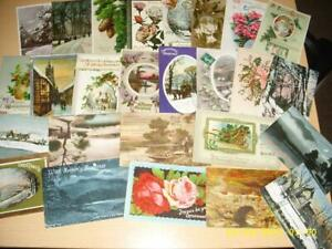 CHRISTMAS - LARGE COLLECTION OF  VINTAGE  GREETING POSTCARDS