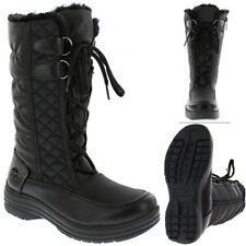 Women's Winter Boots Snow Fur Warm Insulated Waterproof Lace-Up Shoes Size 8