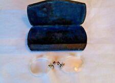 Eureka Pince Nez Antique VTG Oval Rimless Eyeglasses GF Gold Filled