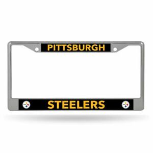 Pittsburgh Steelers Lightweight Chrome Metal License Plate Frame