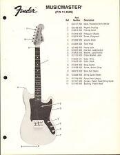 VINTAGE AD SHEET #3598 - FENDER GUITAR PARTS LIST - MUSICMASTER 11-4500