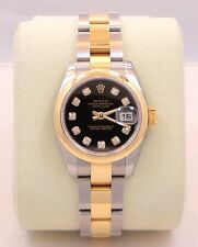 Rolex Datejust 179163 Two Tone SS & 18K Y Gold Diamond Dial Ladies *BRAND NEW*