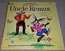 New ListingDisney Uncle Remus Song of the South Soundtrack Vinyl Lp Vg+ Rip Splash Mountain