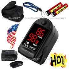 US Finger Fingertip Blood Oxygen Meter SPO2 LED Pulse Heart Rate Monitor,battery