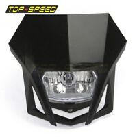 Motorcycle Street Bike Black H4 Headlight For Suzuki Yamaha KTM Honda Kawasaki