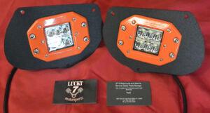 Black + Orange LED Head Light Pod Bracket Kit Polaris Sportsman 1000 850 RZR 800