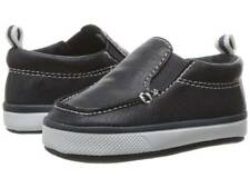 Baby Deer Navy PU Slip-On Deck Shoes  Size 0 1 2 3