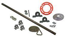 "Drift Trike 1"" x 40"" Steel Live Axle Kit Set Pillow Block Bearing #35 Chain New"