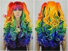 My Little Pony Princess Celestia Cosplay Wig Rainbow Long Curly Hair Wigs