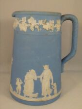 Antique Wedgwood Jasperware Dipped Light Blue Pitcher 6 inches tall