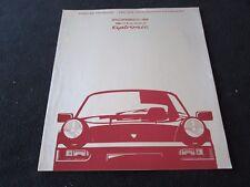 1990 Porsche TIPTRONIC Sales Catalog 911 Carrera 2 New Transmission Brochure