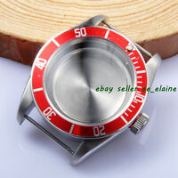 Corgeut 41mm Red Bezel Insert Sapphire Glass Watch Cases fit ETA 2824 2836 Mov't