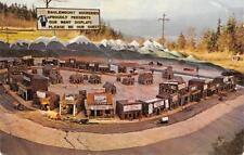 """EAGLEMOUNT ROCKERIES """"Frontier Town"""" Service Station, Motel Roadside WA Postcard"""