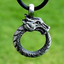 Serpent Egypt Amulet Immortal Old Viking Ouroboros Pendant Necklace Snake Dragon