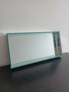 28 cm Rectangle Silver Mirror candle Tray Vanity perfumes Make up Mirror plate