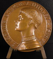 Médaille la pucelle d'Orléans Jeanne d'Arc sc Coëffin Croix à la mémoire medal