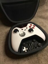 Elite Xbox One 1 Controller - Custom WHITE W/RED Led,Buttons,ABXY Letters FREE