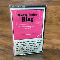 New Martin Luther King Speeches 1961-62 Albany ,GA Live Cassette Tape Volume 2