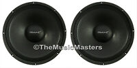 "Pair 15"" inch 8 ohm HQ WOOFERS Bass Speaker Studio Home Cabinet Sub Replacements"