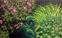 "Gordon Mortensen ""Tea Rose""  Hand Signed Woodcut Artwork flowers MAKE AN OFFER!"