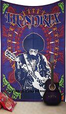 Jimi Hendrix Tapisserie Hippie Psychédélique Musique Rock Décoration Murale À