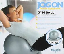 MEDICARN Jog On Gym Ball Plus Exerciser with Base and Fitness Expander FREE DELI