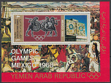 Yemen 1972 ** Mi. Bl.76 Olympische Spiele olympic games Mexiko Mexico