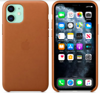 Apple iPhone 11 6,1 Echt Original Leder Hülle Leather Case Sattelbraun Brown
