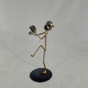 'Pitcher' Metal Rod and Nut Sculpture Figurine Made in USA