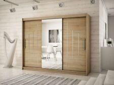 Wardrobe YORK 1 - 250 with Sliding Doors Hanging Rail Shelves New