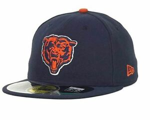 NFL New Era 59Fifty Chicago Bears Fitted Hat Size 7 Baseball Cap Throwback Sz