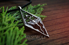 Skyrim Dragon Pendant - Sterling Silver - Viking/Norse/North/Dragonborn/Necklace