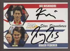 2012 Ace Authentics Tennis Star Signatures Kei Nishikori Roger Federer Dual AUTO
