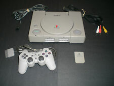 Sony PlayStation 1 System, Controller, Memory Card, & Cables  Clean Tested - PS1