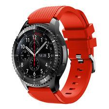 Samsung Gear S3 Frontier Great Fine Silicone WATCH ARMBAND Straps Uhrenarmbänder