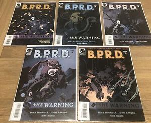 B.P.R.D. THE WARNING #s 1 - 5 Full Set Dark Horse Comics 2008 Hellboy BPRD